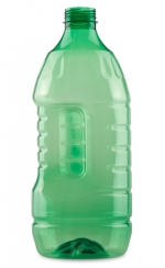 "Botella PET 2L ""GRIP"" ROSCA verde"